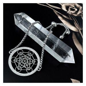 Universal Flower Of Life Pave Lariat Bolo Bracelet